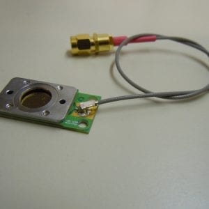 QCM sensor holder (thin) for pressure and vacuum applications